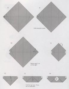 оригами из бумаги дед мороз