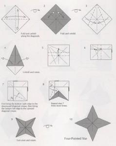 Новогодняя звездочка оригами на елку – как сделать