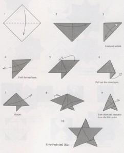 оригами пятиконечная звезда на новогоднюю елку