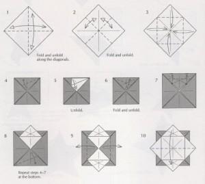 Новогодняя звезда оригами восьмиконечная как сделать