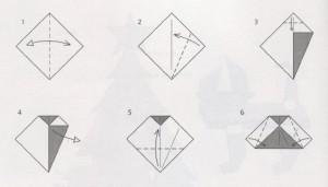 колокольчик оригами схема
