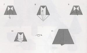 колокольчик оригами простая схема к новому году