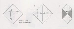 свеча оригами схема