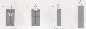 свеча новогоднее оригами схема из бумаги