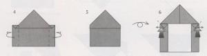 оригами домик схема