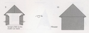 оригами домик схема простая