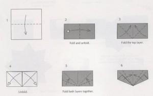 сердце оригами схема