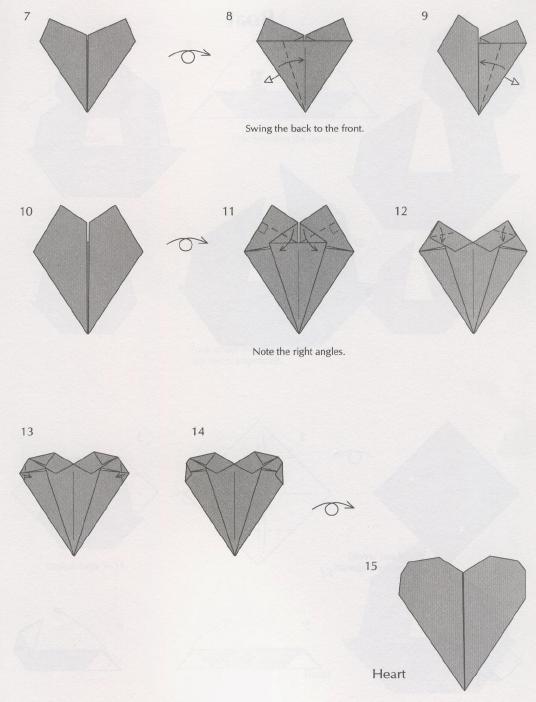 сердце оригами схема из бумаги
