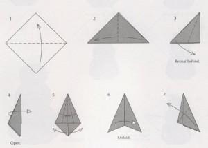Ангелочек – простая схема оригами из бумаги
