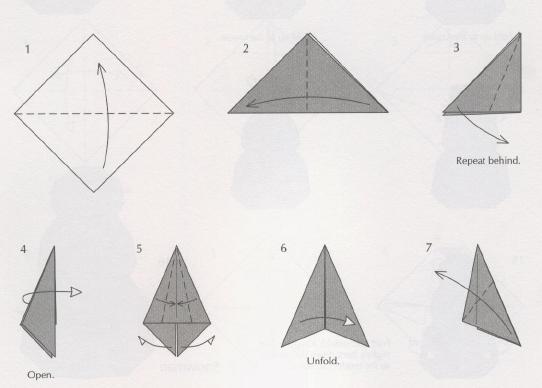 схема оригами из бумаги