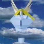 Оригами Ангел – модульная схема из бумаги.