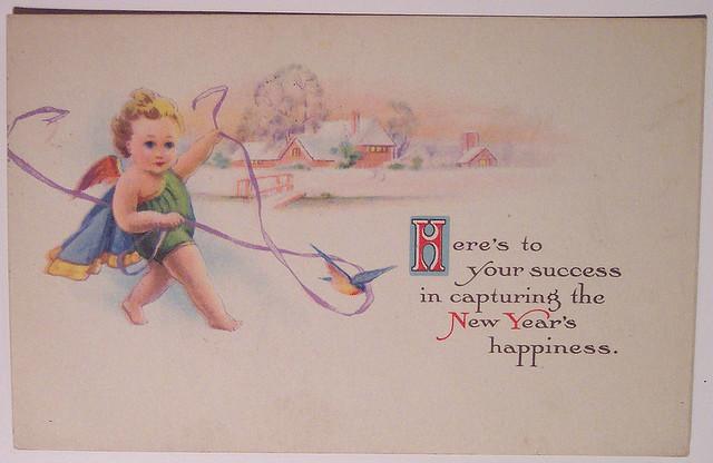 Английская открытка с новым годом своими руками
