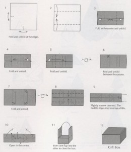 Оригами Коробочка с крышкой схема из бумаги коробка