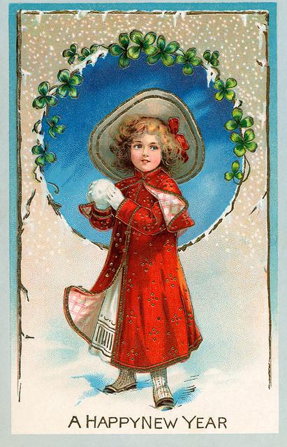 Красивые новогодние открытки для Дам