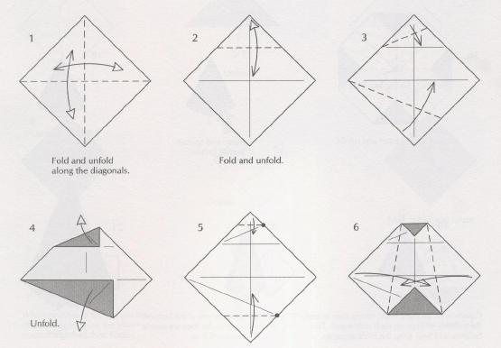 Оригами снеговик из бумаги.  Подробная схема и видео урок.