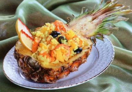 ризотто в ананасе новогодние блюда с фотографией рецепт