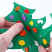 новогодняя елка простая поделка на Новый год для детей фото