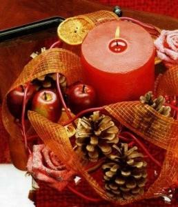 декоративная Новогодняя композиция Цвет торжества фото