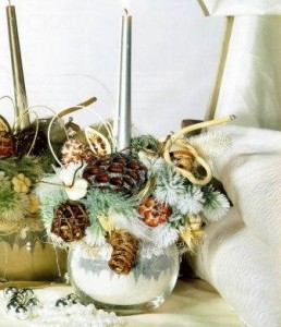 Новогодняя декоративная композиция Волшебница-зима