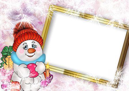 Детские новогодние рамки для фотографий скачать бесплатно