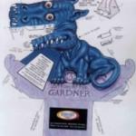 модель дракона для склеивания