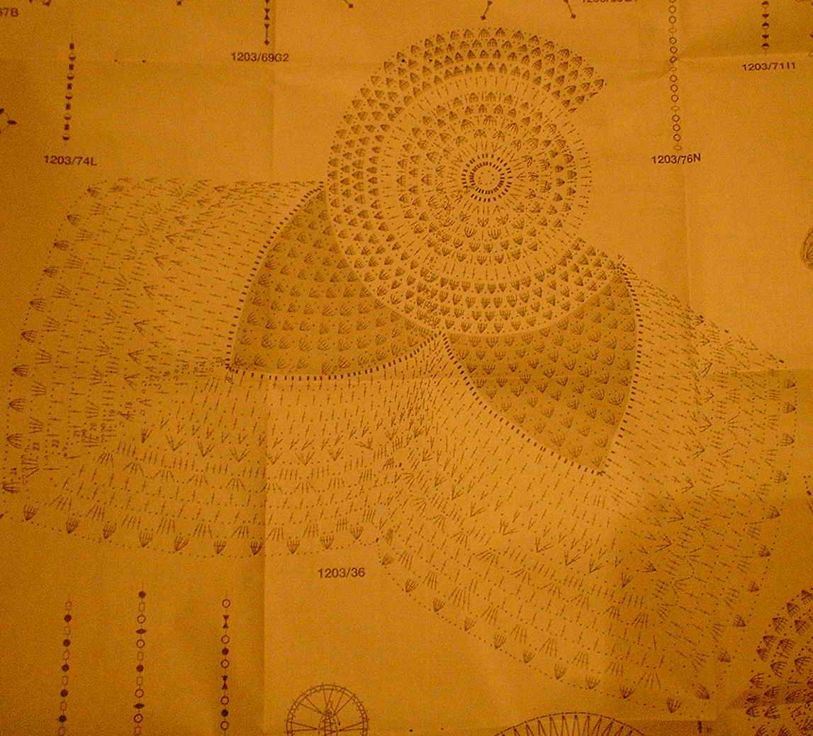 схема вязания новогодней салфетки дед мороз