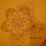 маленькая новогодняя звезда схема вязания
