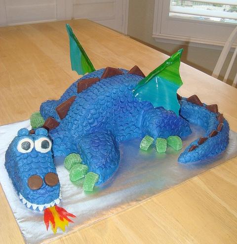Новогодний торт Дракон фото