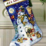 Dimensions-08839-Snowman-Friends-Stocking