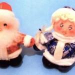 Сувениры Дед Мороз и Снегурочка своими руками