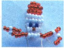 новогодний дед мороз бисер схема