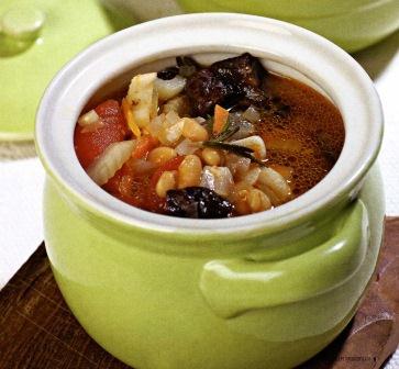 Фасолевый суп с черносливом постное блюдо фото