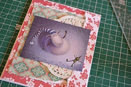 Новогодняя открытка с Годом Овцы своими руками