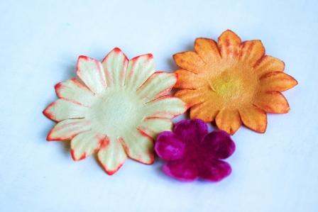 цветок в осенних тонах