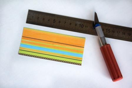 прямоугольник из бумаги в цветную полоску