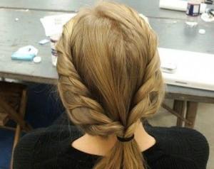 французская коса в школу фото