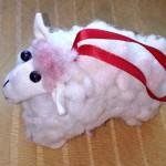 Елочная игрушка Овечка своими руками – мастер класс