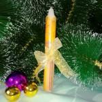 Как быстро сделать красивую новогоднюю свечу своими руками