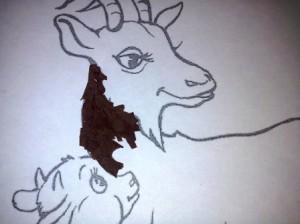 торцевать туловище Козы
