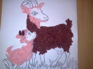 Новогодняя картинка Коза