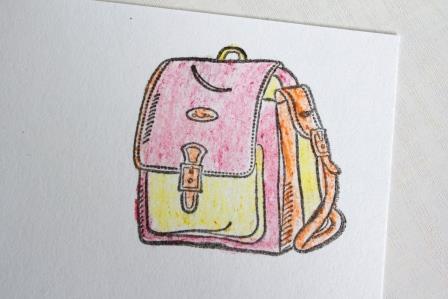 Раскрашиваем вручную наш ранец
