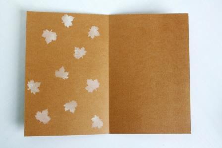 отпечатки листиков