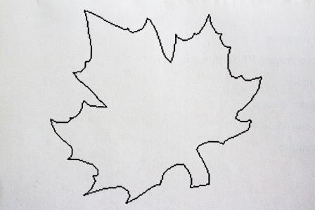большой желтый кленовый лист шаблон