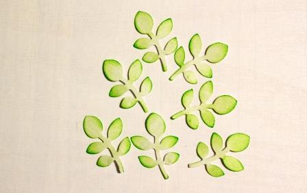 немного зеленых листиков