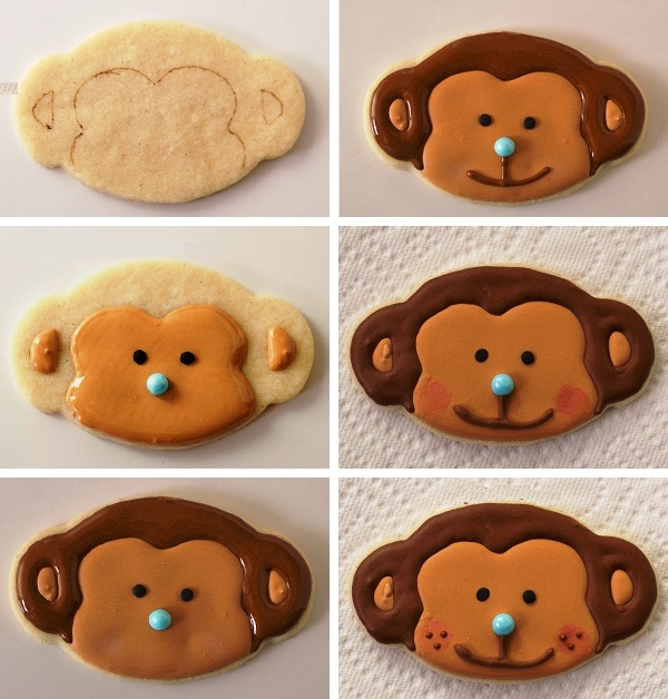 как сделать печенье Обезьянка