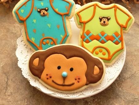 печенье новый год Обезьяны