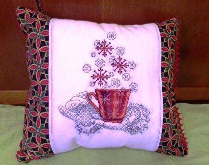 новогодняя подушка фото