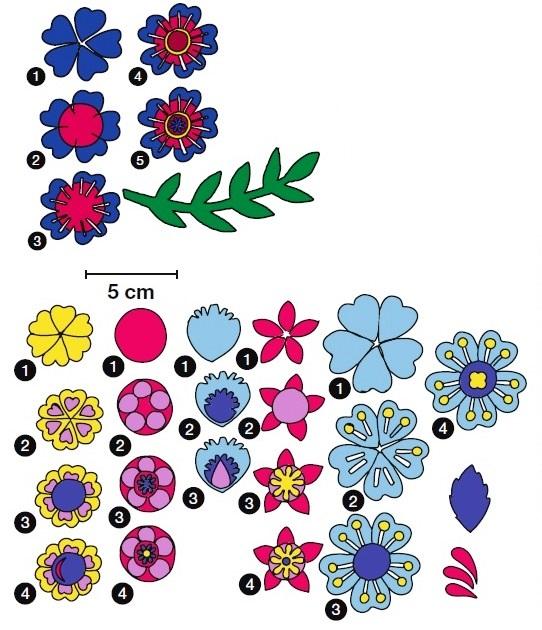 детали цветов выкройка