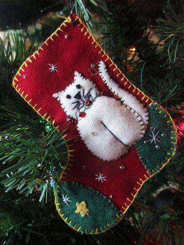 рождественский носок валяный