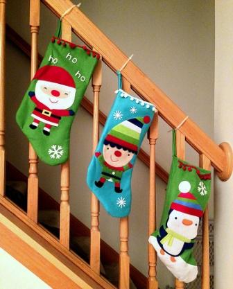 висят сапожки на лестнице